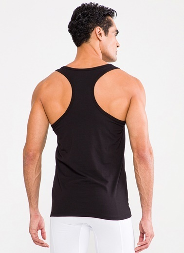 D'S Damat Ds Damat 2'li İç Giyim Atlet Siyah